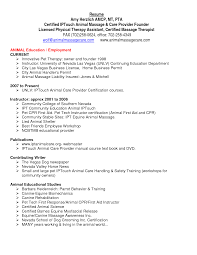 Sample Physical Therapist Assistant Resume Gallery Creawizard Com