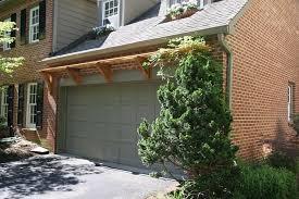 garage door arborCedar Trellis Over Garage Door in McLean VA  Land Art