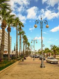 Special Lights Larnaca Hd Wallpaper Cyprus Larnaca Finikoudes Waterfront