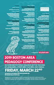Boston Area Pedagogy Conference Romance Studies Blog
