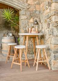 engaging round pub table with nesting stools bar height and tables breakfast triangle