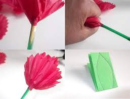 How To Make A Flower Out Of Tissue Paper Step By Step Make Tissue Paper Flowers