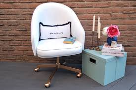 office chair makeover. DIY Leather Chair Repaint (via Decoist) Office Makeover F