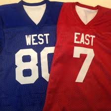 Design Your Own Football Uniform For Fun Celebrate Your Favorite Rivalries With West Vs East