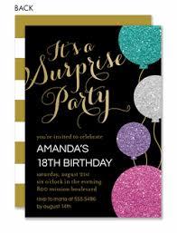 Surprise Birthday Party Invitations Invitation Box