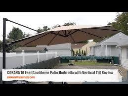 cobana 10 feet cantilever patio umbrella with vertical tilt review