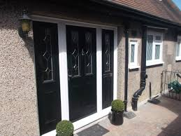 windows composite door panels black composite door with side panels