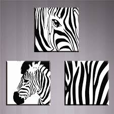 3 piece zebra painting canvas art decorative pictures wall pictures for living room hd high quality