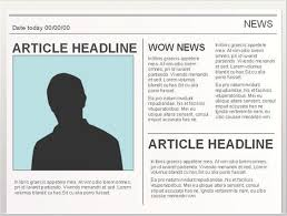Newspaper Template Google Docs Easy To Edit Google Doc Editable Newspaper Template To Use
