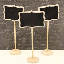 chalkboard table signs wood finish