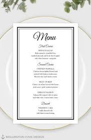 Striking Dinner Menu Template Free Download Word Ideas