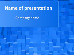 Download Free Blue Cubes Powerpoint Template For Presentation ...