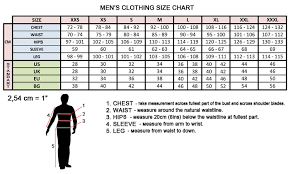 Clothing Size Chart For Women And Men Salwar Kameez And