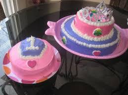 Simple Homemade Princess Cake And Smash Cake