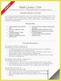 Professional Cna Resume New Stna Resumes Samples 40 Resume For A Fascinating Cna Resume Sample