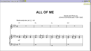 all of me sheet music piano easy john legends all of me piano sheet music teaser youtube