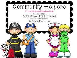 Community Helpers Chart Pdf Community Helpers Power Point And Ela Activities In Pdf File Grades 1 2