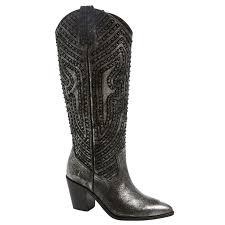 Frye Faye Stud Pull On Womens Metallic Leather Boots 549202856