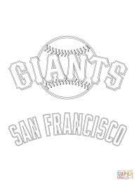 san francisco giants logo coloring page free printable coloring