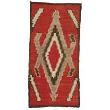vintage navajo rug in storm pattern for