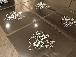screen printing onto a mirror white ink diy craft coffee hustle lettering print screen mirror printing