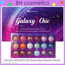 new bh cosmetics 18 color galaxy chic baked eye shadow palette nib