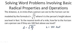 solving problems involving radical expressions example 1