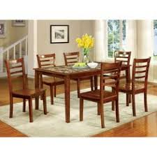 furniture of america fordville i 7 pc dining table set in antique oak finish