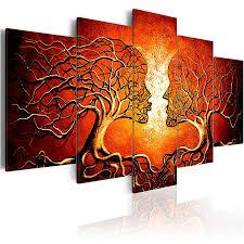 modern canvas art painting 5 panels