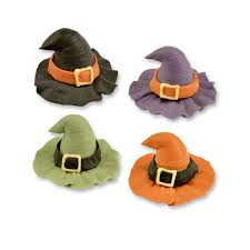 Witch Decorating Halloween Edible Cake Decorations Sugar Witch Hats The Cake