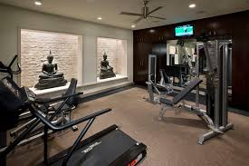 home gym lighting. gym decor ideas home contemporary with light well limestone block recessed lights lighting p