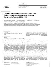 Pdf Tapering From Methadone Or Buprenorphine During