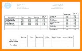 Make Pay Stubs Template Free Paycheck Templates Adp Stub