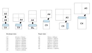 Size Of Envelopes Envelope Sizes Envelope Size Chart Envelope Sizes
