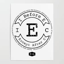 i before e except after c rule exceptions funny poster