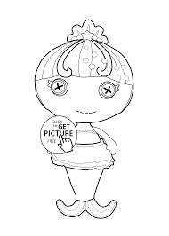 Small Picture Lalaloopsy Doll coloring page for kids printable free Little