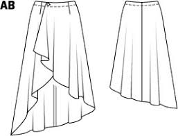 High Low Skirt Pattern Beauteous Hi Low Asymmetrical Wrap Skirt 482485 48B Sewing Patterns