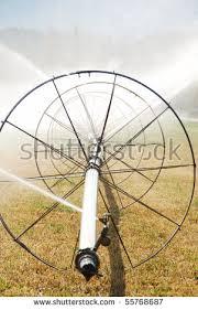 fertile garden. Wheel Irrigation Of A Alfalfa Field In The Fertile Garden Valley Area Roseburg Oregon