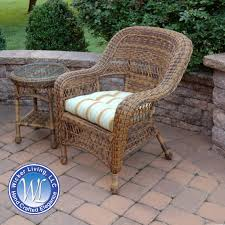 outdoor patio wicker chairs. round wicker patio end table shown with chair outdoor chairs