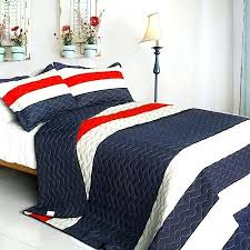red white quilt set stripe rugby bedding black and
