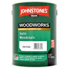 Johnstones Trade Satin Woodstain Ebony Ready Mixed 5l