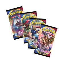Pokemon Trading Card Game Sword & Shield Base Set | 4 Sealed Booster Packs  - Trading Card Games from Hills Cards UK