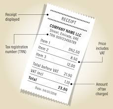 Vat In Uae This Is What Your Receipt Should Look Like The National