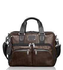 tumi tumi dark brown alpha bravo albany slim commuter leather briefcase