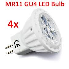 Halogen Replacement Led Lights Us 18 99 Mr11 Gu4 Led Bulb 4w 12v Ac Dc Flood Light 35w Halogen Replacement Spotlight Landscape Recessed Track Light Gu4 G4 Base 4pcs In Led Bulbs