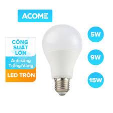 Bóng đèn LED Dạng búp tròn tiết kiệm 90% điện năng Ánh sáng trắng Công suất  5W 9W 15W Thân thiện môi trường AP