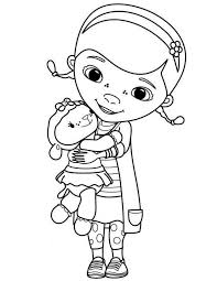 Doc Mcstuffins Coloring Pages New For Boys And Lambie 97 Get