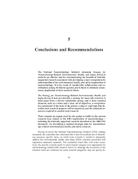 environmental health essay conclusions and recommendations review of the federal strategy page conclusions and recommendations review of the federal strategy page