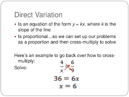 direct variation form module 5 topic 1 examples