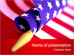 American Flag Powerpoint Template Infographics Slides